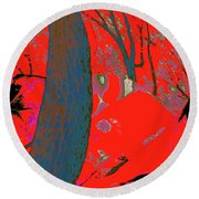 Surrounded 8 Round Beach Towel