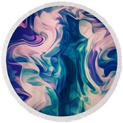 Surrounded By An Aura Of Love Round Beach Towel