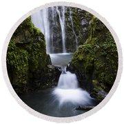 Susan Creek Falls Oregon 4 Round Beach Towel