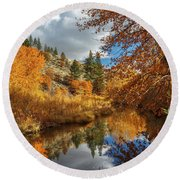 Susan River Reflections Round Beach Towel