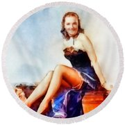Susanna Foster, Vintage Hollywood Actress Round Beach Towel