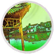 Suzhou Grand Canal Round Beach Towel