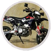 Suzuki Race Motorcycle. 387. Round Beach Towel