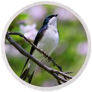 Swallow Song Round Beach Towel