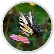 Swallowtail Butterfly 3 Round Beach Towel