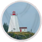 Swallowtail Lighthouse Round Beach Towel