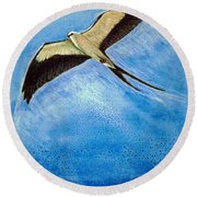 Swallowtail Sighting Round Beach Towel