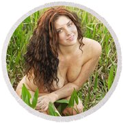 Swamp Beauty Eight Round Beach Towel