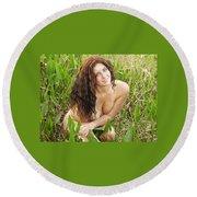 Swamp Beauty Eight Round Beach Towel