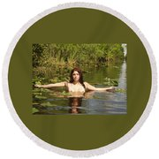 Swamp Beauty Three Round Beach Towel