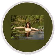 Swamp Beauty Two Round Beach Towel