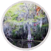 Swamp Colors Round Beach Towel