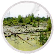 Swamp Habitat Round Beach Towel