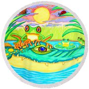Swamp Life Round Beach Towel