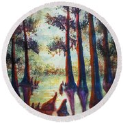 Swamplight Round Beach Towel
