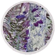 Ferns Of A Different Color Round Beach Towel