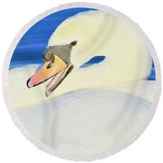 Swan 10 Round Beach Towel