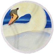 Swan 9 Round Beach Towel