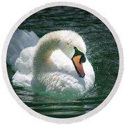 Swan Bow Round Beach Towel