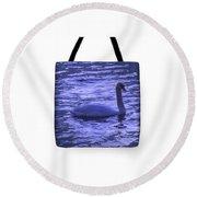 Swan Lake-tote Bag Round Beach Towel