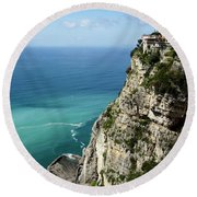 Sweeping Around The Amalfi Coast Round Beach Towel