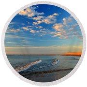 Sweeping Ocean View Round Beach Towel