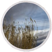 Sweeping The Clouds Away Round Beach Towel