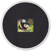 Sweet As Honey Round Beach Towel