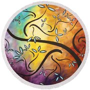Sweet Blossom By Madart Round Beach Towel