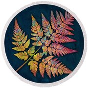 Sweet Cicely Round Beach Towel
