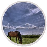 Sweet Country Scents Round Beach Towel