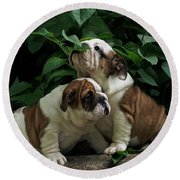Sweet Couple Round Beach Towel