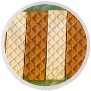 Sweet Crackers Round Beach Towel