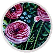 Sweet Delight Round Beach Towel