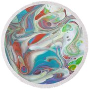 Sweet Fragrance  Round Beach Towel