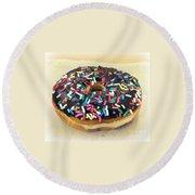 Sweet Indulgence - Donut Round Beach Towel