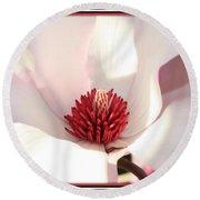 Sweet Magnolia Round Beach Towel