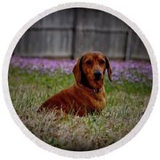 Sweet Neal Round Beach Towel
