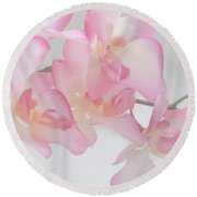 Sweet Orchid Round Beach Towel