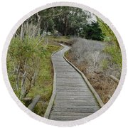 Sweet Springs Nature Preserve Round Beach Towel