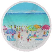 Sweet Sweet Summer Round Beach Towel