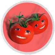 Sweet Tomatoes Round Beach Towel