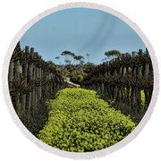 Sweet Vines Round Beach Towel