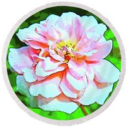 Sweetheart Rose On A Sunny Day Round Beach Towel
