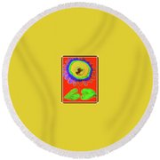 A Fanciful Flower Round Beach Towel
