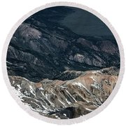 Sweetwater Mountains On California Nevada Border Aerial Photo Round Beach Towel