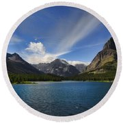 Swiftcurrent Lake - Glacier Np Round Beach Towel