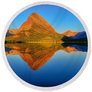 Swiftcurrent Morning Reflections Round Beach Towel