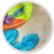 Swimming Gear Round Beach Towel