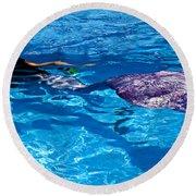 Swimming Mermaid Round Beach Towel